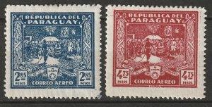 Paraguay 1930 Sc C36,C38 air post partial set MLH*