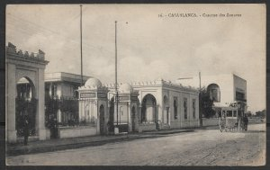 Postcard Casablanca French Morocco, Caserne des Zouaves, Entrance to Barracks,VF