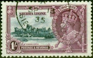 Sierra Leone 1935 1s Jubilee SG184 Very Fine Used