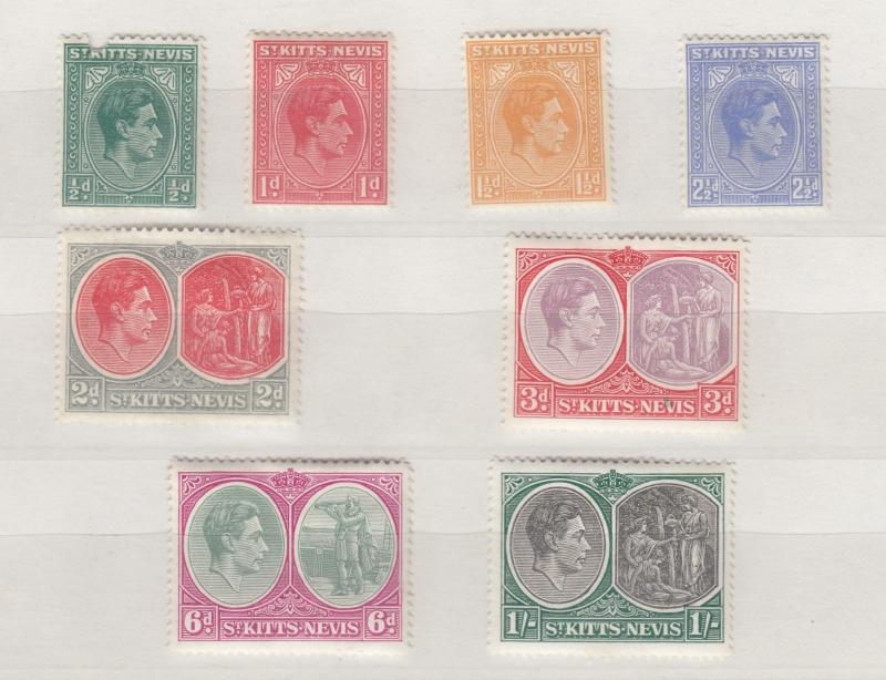 St Kitts KGVI 1938 Set To 1/- MH J263