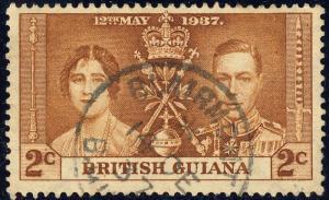 BRITISH GUIANA - 1937 -  BLAIRMONT  Single Circle DS on SG 305 2c Coronation