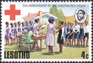 Lesotho # 195 mnh ~ 4¢ Enrollment In Junior Red Cross