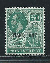 Montserrat MR2 1918 War Tax single MNH