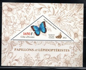 IVORY COAST   BUTTERFLIES  SOUVENIR SHEET  LOT HS43