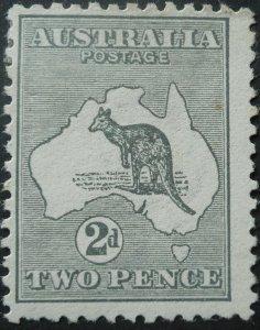 Australia 1913 Two Pence Kangaroo 1st watermark SG 3 mint