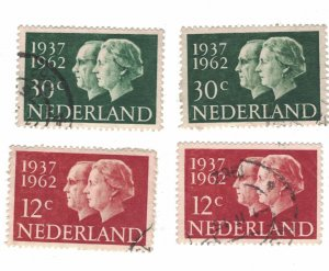 772 - Netherlands (12 C) 1962 - Postage stamps Queen Juliana´s and Prince