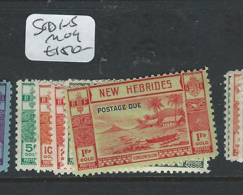 NEW HEBRIDES BRITISH  (P2407B) POSTAGE DUE SG D1-5  VERY SCARCE MINT MOG