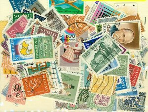 Finland Stamp Packet of 200 All Different Fine Used Stamps