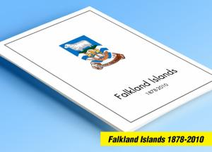 COLOR PRINTED FALKLAND ISLANDS 1878-2010 STAMP ALBUM PAGES (154 illustr. pages)
