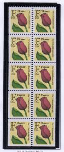 United States Sc 2519a 1991 F Flower stamp booklet pane mint NH