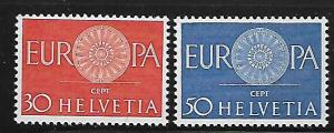 SWITZERLAND, 410-411, MNH, 1961 SET