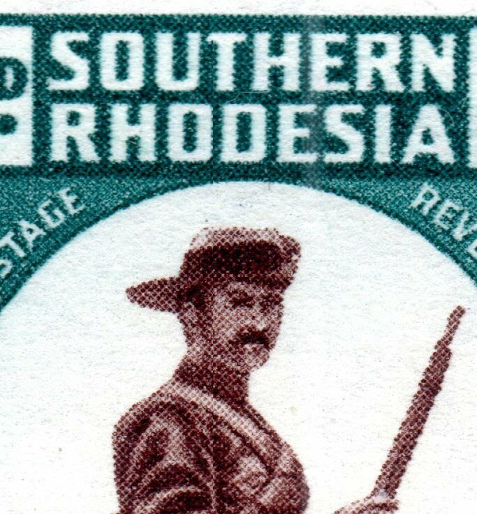 1943 Southern Rhodesia Sg61var with 8 Flaws Flaws Unmounted Mint