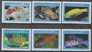 Benin #1047-52 F-VF Mint NH ** Fish