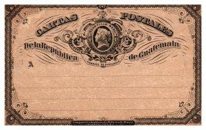 Guatemala, Government Postal Card