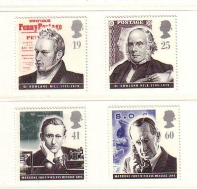 Great Britain Sc 1625-8 1995 Communication stamps mint NH