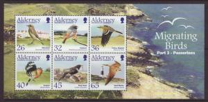 2004 Alderney Migrating Birds MS Part 3 U/M SGMSA241