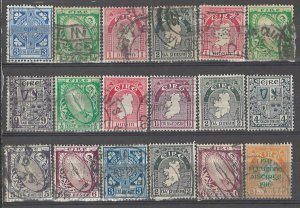 COLLECTION LOT # 3715 IRELAND 18 STAMPS 1922+ CLEARANCE CV+$23