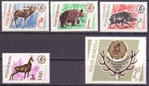 Romania. 1965. 2460-4. Fauna of Romania. MNH.