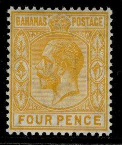BAHAMAS GV SG85, 4d orange-yellow, NH MINT.
