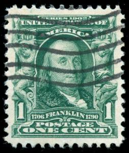 momen: US Stamps #300 Used PSE Graded XF-SUP 95