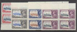Virgin Islands, Scott 69-72 (SG 103-106), MNH blocks of four (see description)