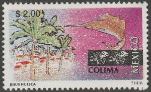 MEXICO 1962, $2.00 Tourism Colima, resort, fishing. Mint, Never Hinged F-VF.