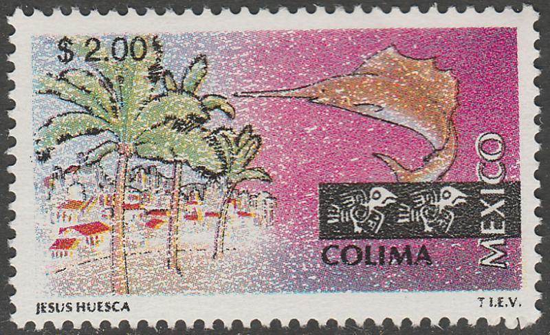 MEXICO 1962 $2.00 Tourism Colima, resort, fishing. Mint, Never Hinged F-VF.
