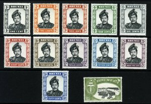 BRUNEI 1964-72 The Watermark Block CA Set to $1 SG 118 to SG 129 MINT
