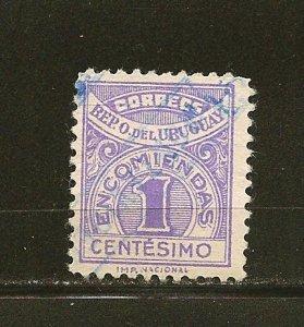 Uruguay Q35 Parcel Post Used