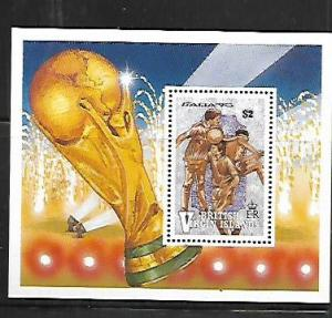 BRITISH VIRGIN ISLANDS, 682, MINT HINGED, SS, WORLD CUP SOCCER