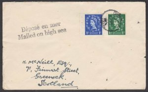 CANADA 1964 GB on cover QUEBEC cds - MAILED ON HIGH SEA.....................t269