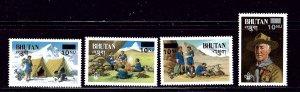 Bhutan 450-53 MNH 1985 Boy Scouts