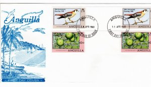 Anguilla 1980 Sc 387-8 Commemorative Perforate Gutter Pair FDC