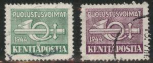 FINLAND SUOMI Scott M6-7 Military stamp set 1944