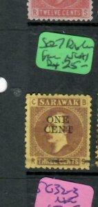SARAWAK  (P2204B)  BROOK   1C/3C   SG 27   BROKEN BAR  NGAI