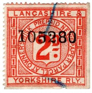 (I.B) Lancashire & Yorkshire Railway : Prepaid Newspaper Parcel 2d