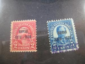 UNITED STATES - SCOTT # 647-648 - Used