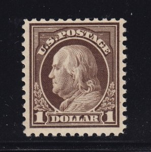 518b Deep Brown VF+ OG lightly hinged PF cert with nice color ! see pic !