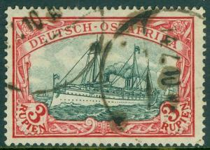 EDW1949SELL : GERMAN EAST AFRICA 1908 Sc #41a Red & Blackish Green Used Cat $400