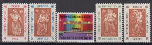 UN #170-74 MNH VF (B8024)