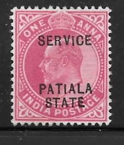 India Patiala O21: 1a Edward VII, used, F-VF