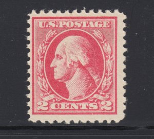 US Sc 526 MNH. 1920 2c carmine Washington, fresh, bright, F-VF
