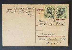 1916  Vienna Austria Germany Vintage Postcard Cover