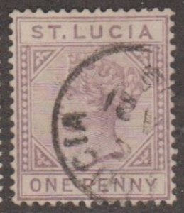 St. Lucia Scott #29a Stamp - Used Single
