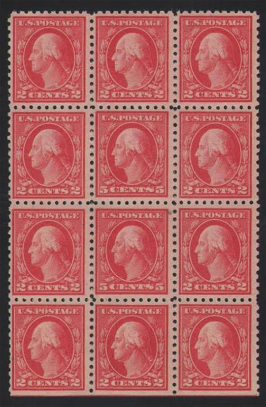 #467, Double Error Block/12, Mint OG NH, VF/XF, With PFC
