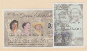 Tuvalu Scott #913-914 Stamps - Mint NH Souvenir Sheet Set