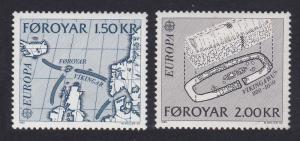 Faroe Is. Europa CEPT issue 1982 2v SG#69-70 SC#81-82