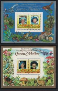 BVI Life and Times of the Queen Mother 2 MSs SG#MS587A SC#518-519