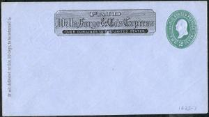 #U321 (THORP 1435) WELLS FARGO & Co. GREEN, BLUE ENTIRE XF CV $325.00 BP3940
