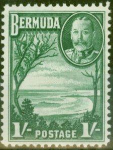 Bermuda 1936 1s Green SG105 V.F Lightly Mtd Mint